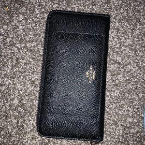 Coat cross green accordion wallet